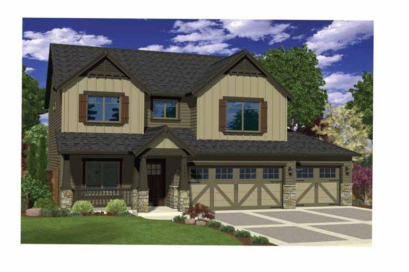Craftsman Exterior - Front Elevation Plan #943-34 - Houseplans.com