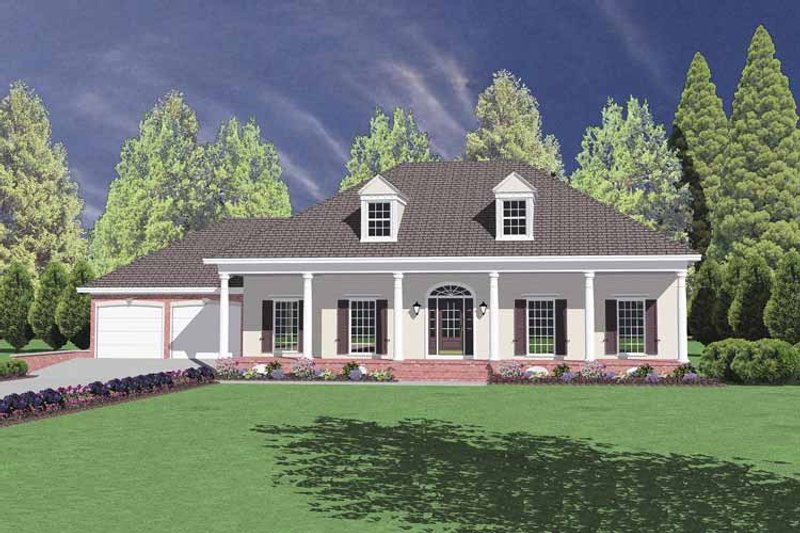 Classical Exterior - Front Elevation Plan #36-537
