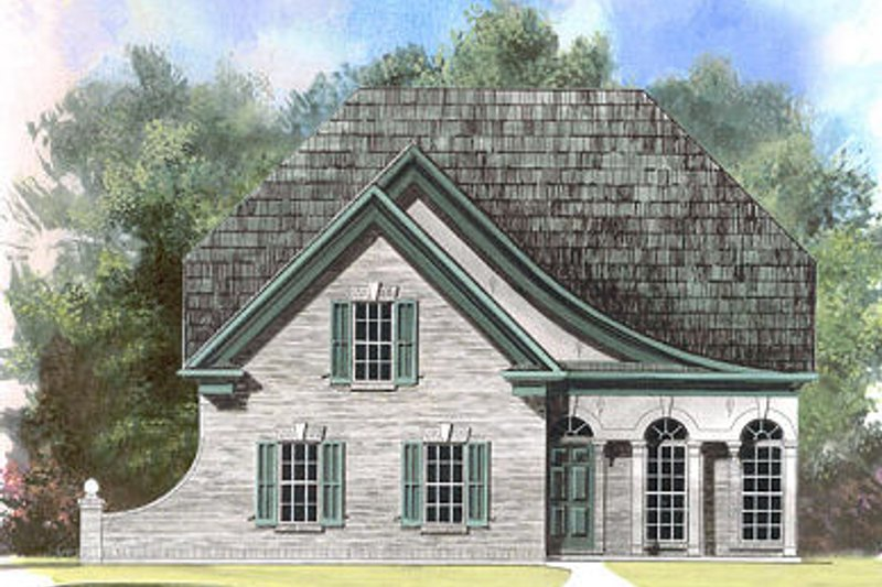 European Exterior - Front Elevation Plan #119-278