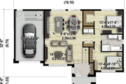 Contemporary Style House Plan - 2 Beds 1 Baths 1124 Sq/Ft Plan #25-4465 Exterior - Front Elevation