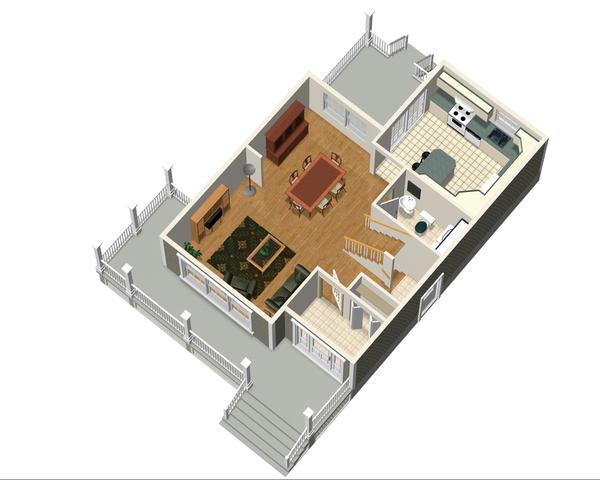 Country Floor Plan - Main Floor Plan #25-4338