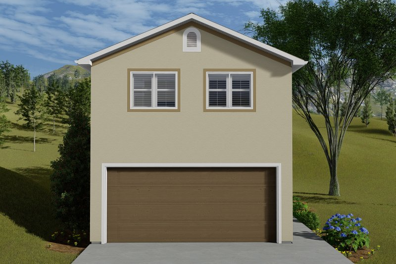 Traditional Style House Plan - 1 Beds 2 Baths 643 Sq/Ft Plan #1060-84