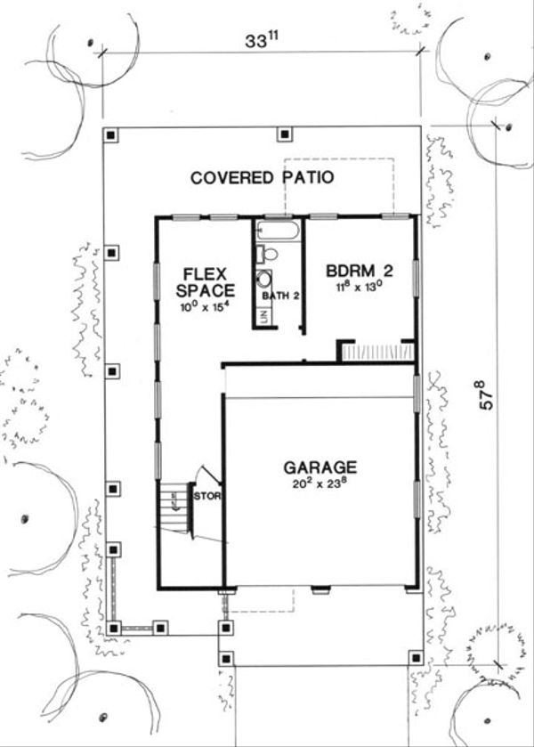 Modern Floor Plan - Lower Floor Plan Plan #472-3
