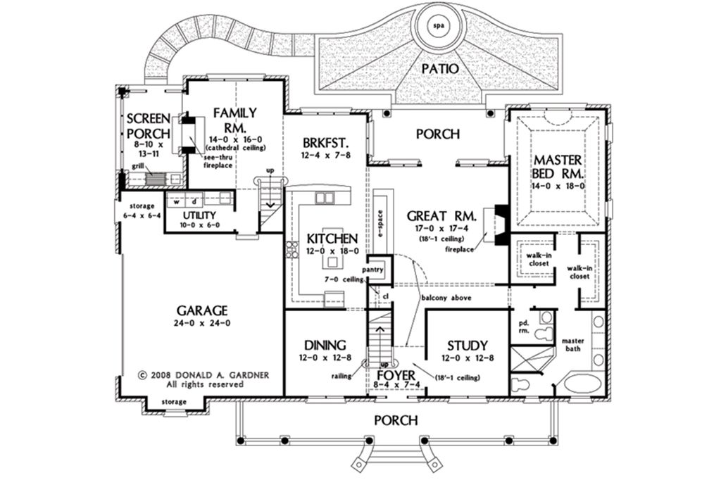 Country style house plan 4 beds 3 5 baths 3154 sq ft for South cathedral mansions floor plans