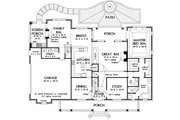 Country Style House Plan - 4 Beds 3.5 Baths 3154 Sq/Ft Plan #929-36 Floor Plan - Main Floor Plan