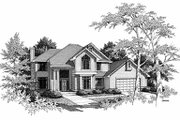 Traditional Style House Plan - 4 Beds 2.5 Baths 2493 Sq/Ft Plan #70-400 Exterior - Front Elevation