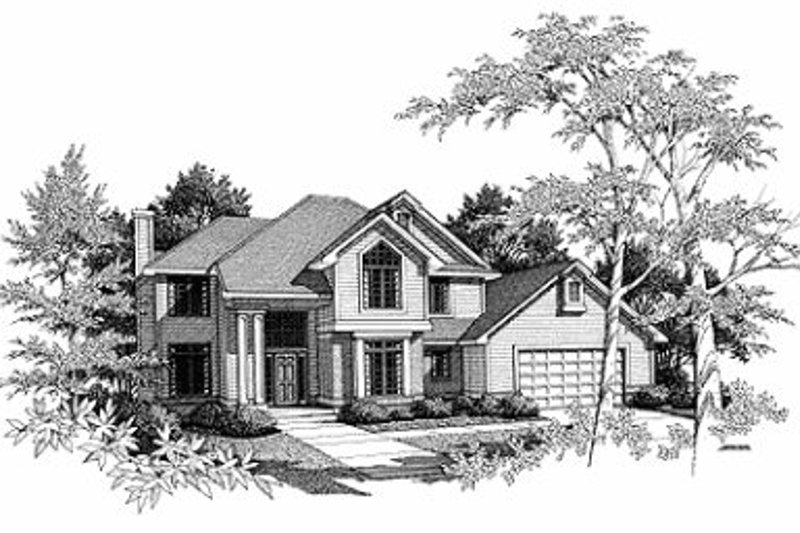 Traditional Exterior - Front Elevation Plan #70-400