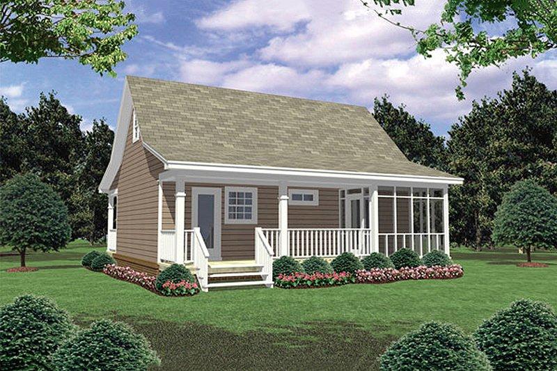 Country Exterior - Rear Elevation Plan #21-206 - Houseplans.com