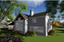 Craftsman Exterior - Rear Elevation Plan #70-1292