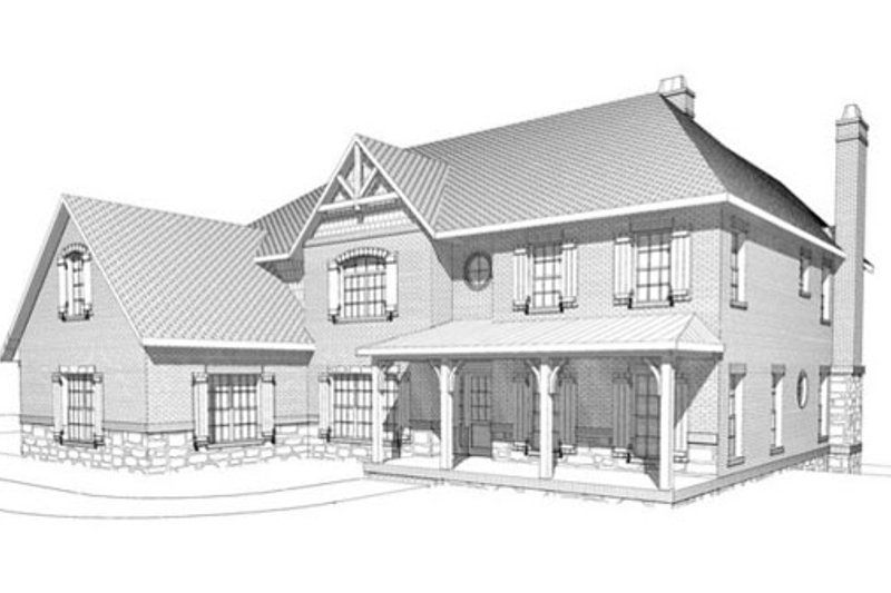 Craftsman Style House Plan - 4 Beds 4.5 Baths 5736 Sq/Ft Plan #123-114 Exterior - Front Elevation