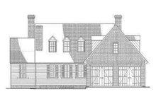 Colonial Exterior - Rear Elevation Plan #137-204