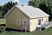 Craftsman Exterior - Rear Elevation Plan #44-226