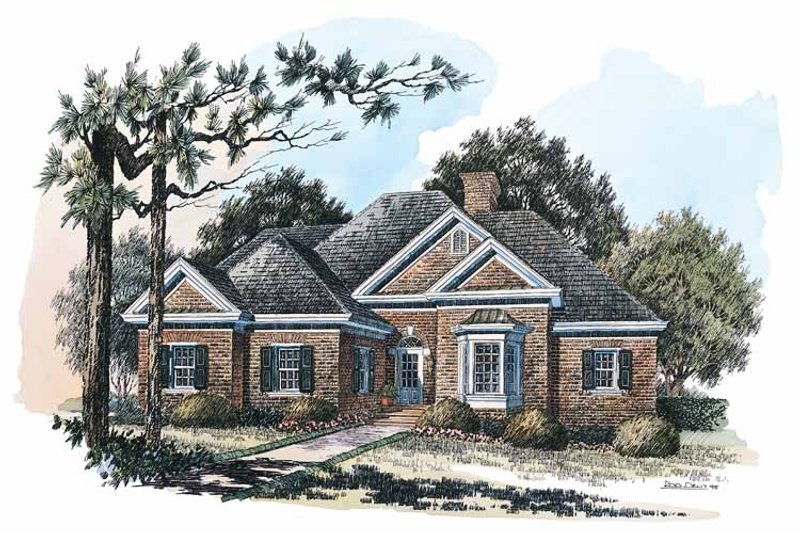 Colonial Exterior - Front Elevation Plan #429-225