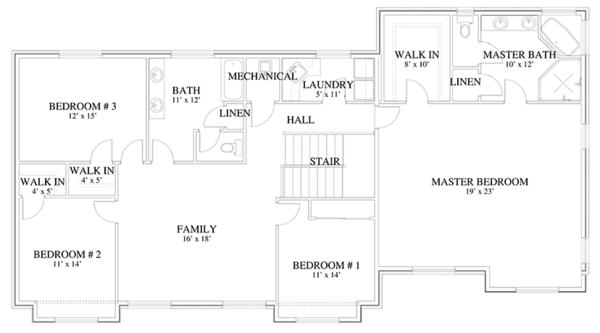 Home Plan - Traditional Floor Plan - Upper Floor Plan #1060-18