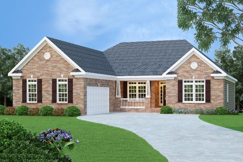 Home Plan - Traditional Exterior - Front Elevation Plan #419-179