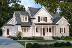 Home Plan - Farmhouse Exterior - Front Elevation Plan #927-995