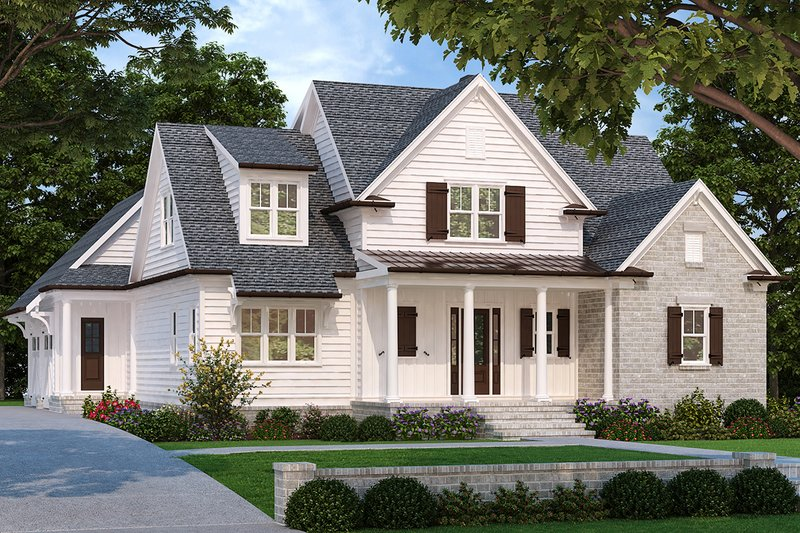 Farmhouse Style House Plan - 4 Beds 2.5 Baths 2564 Sq/Ft Plan #927-995 Exterior - Front Elevation