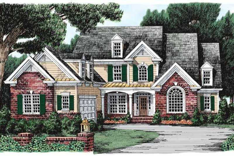 Traditional Style House Plan - 3 Beds 2.5 Baths 2395 Sq/Ft Plan #927-101 Exterior - Front Elevation