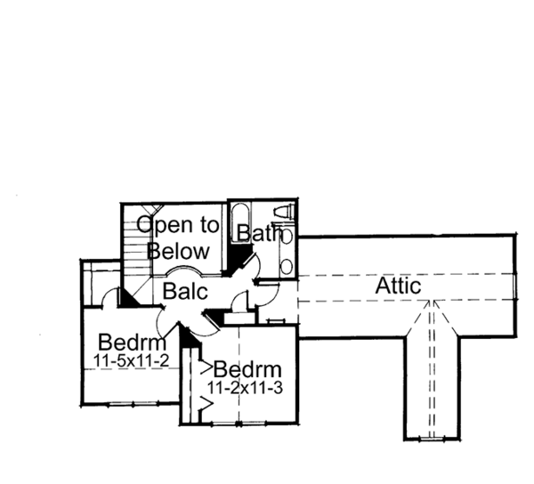 Craftsman Floor Plan - Upper Floor Plan Plan #120-198