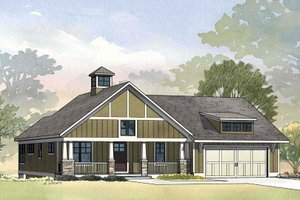 Craftsman style home, Ranch design, elevation