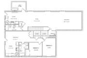 Traditional Style House Plan - 5 Beds 5 Baths 5160 Sq/Ft Plan #1060-20 Floor Plan - Lower Floor