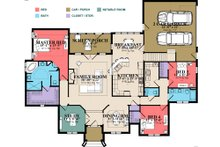 Traditional Floor Plan - Main Floor Plan Plan #63-403