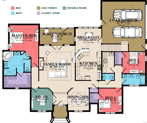 Traditional Floor Plan - Main Floor Plan Plan #63-403