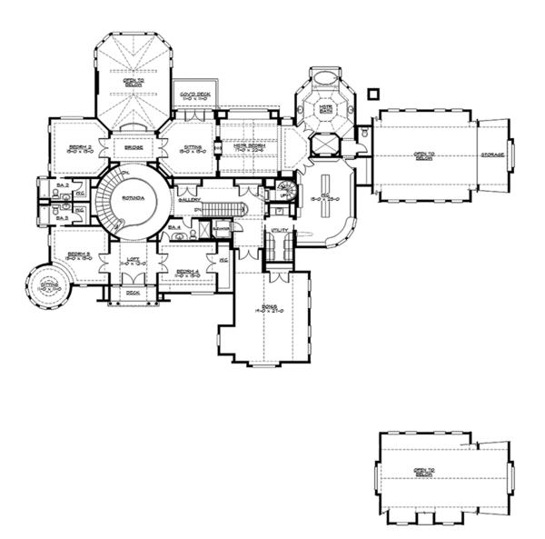 Dream House Plan - Craftsman Floor Plan - Upper Floor Plan #132-565