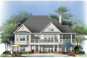Traditional Style House Plan - 3 Beds 2.5 Baths 2157 Sq/Ft Plan #929-910 Exterior - Rear Elevation