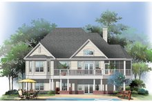 House Plan Design - Rendering Rear
