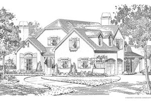 Traditional Exterior - Front Elevation Plan #490-28