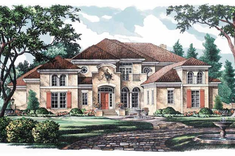 House Plan Design - Mediterranean Exterior - Front Elevation Plan #952-185