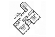 Traditional Floor Plan - Upper Floor Plan Plan #310-1254