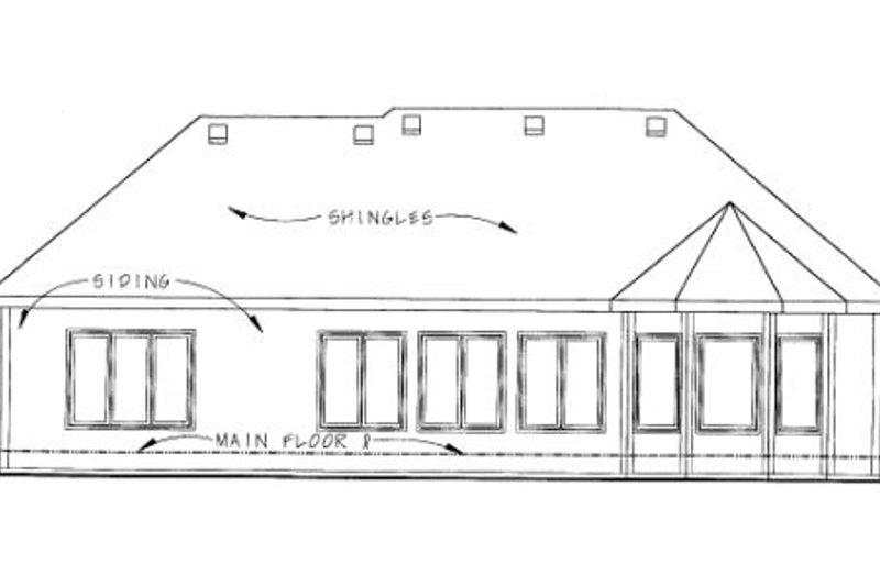 European Exterior - Rear Elevation Plan #20-1422 - Houseplans.com