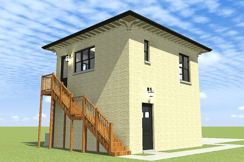Traditional Exterior - Rear Elevation Plan #64-229 - Houseplans.com