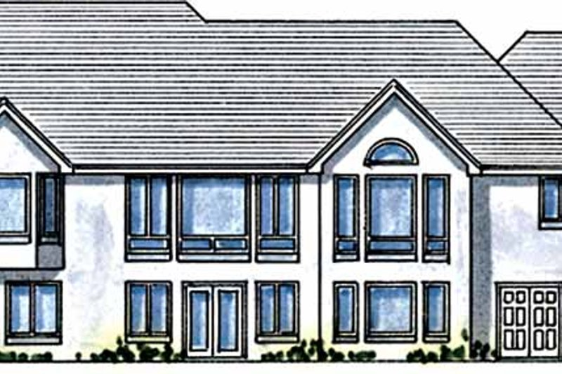 Country Exterior - Rear Elevation Plan #51-789 - Houseplans.com