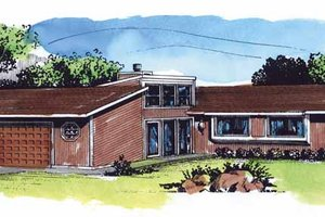 Architectural House Design - Contemporary Exterior - Front Elevation Plan #320-782