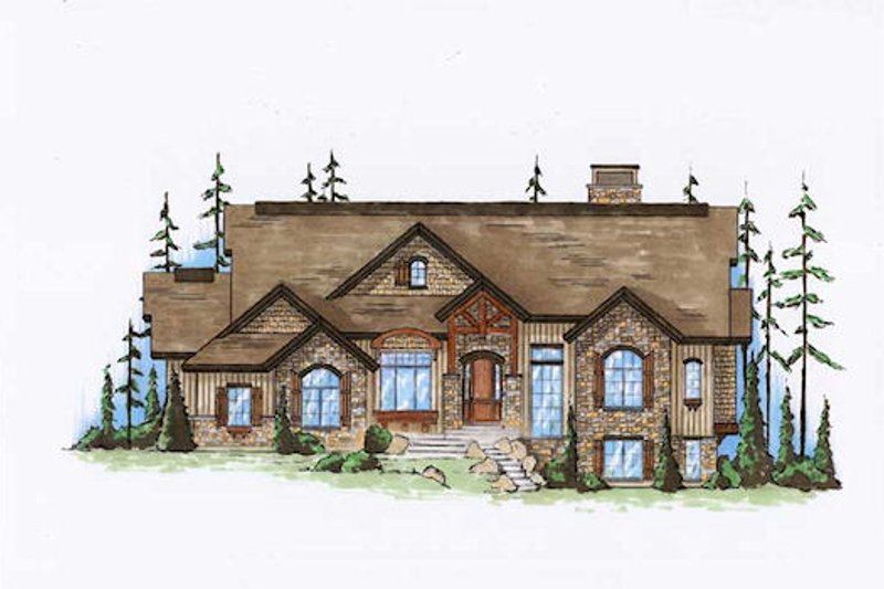 Dream House Plan - Traditional Exterior - Front Elevation Plan #5-360