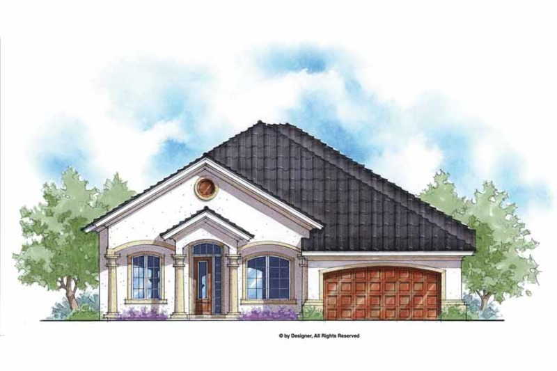 Mediterranean Exterior - Front Elevation Plan #938-61 - Houseplans.com
