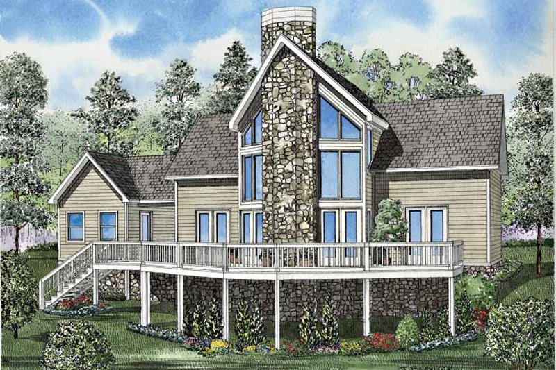Dream House Plan - Contemporary Exterior - Front Elevation Plan #17-3130