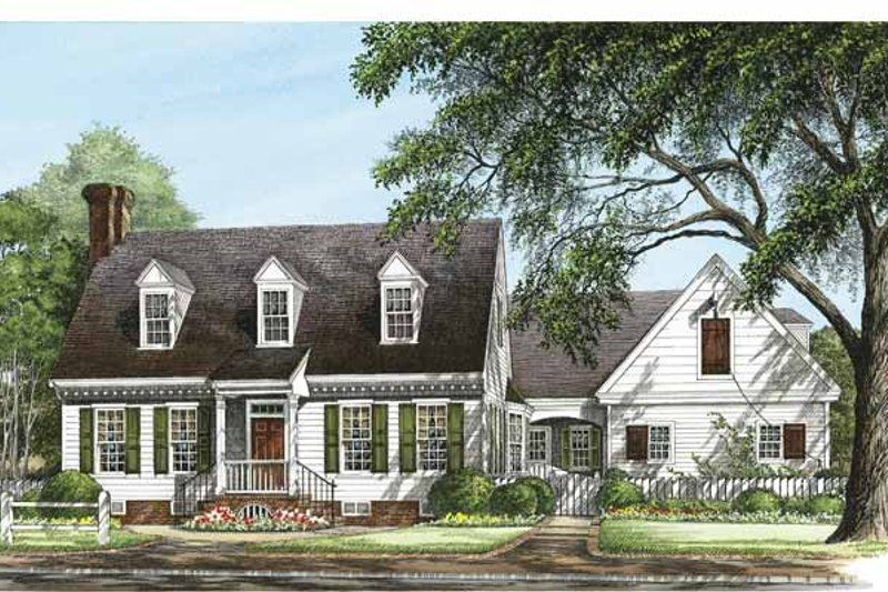 Colonial Exterior - Front Elevation Plan #137-330