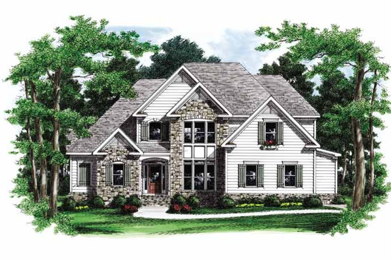 European Exterior - Front Elevation Plan #927-693