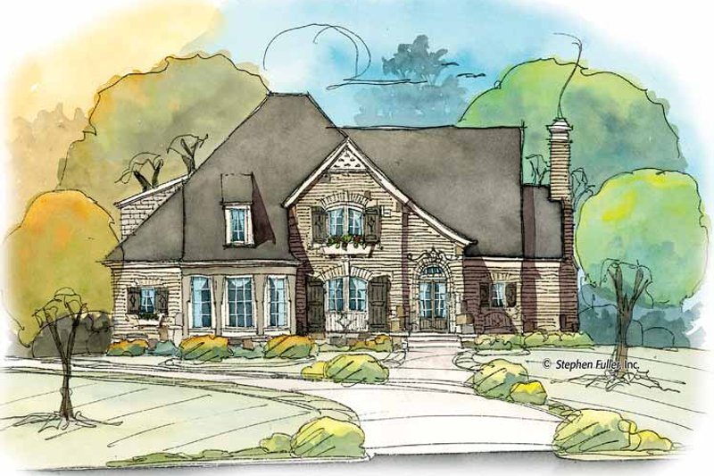 Home Plan - Colonial Exterior - Front Elevation Plan #429-375