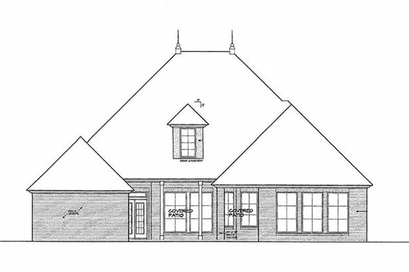 European Exterior - Rear Elevation Plan #310-1255 - Houseplans.com