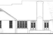 Southern Exterior - Rear Elevation Plan #406-195