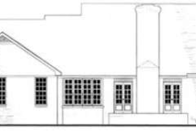 Southern Exterior - Rear Elevation Plan #406-195 - Houseplans.com