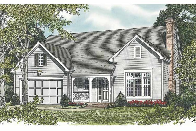 Traditional Exterior - Front Elevation Plan #453-495 - Houseplans.com