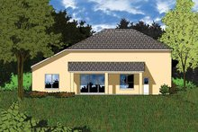 Home Plan - Mediterranean Exterior - Rear Elevation Plan #1015-5