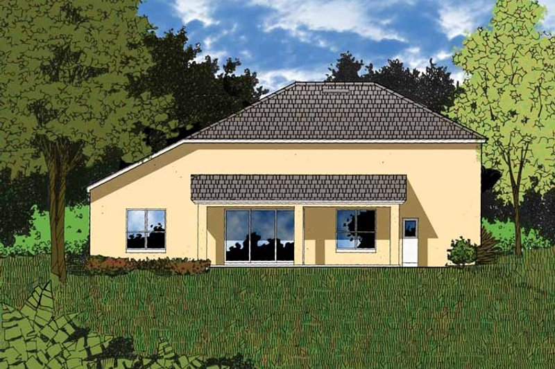 Mediterranean Exterior - Rear Elevation Plan #1015-5 - Houseplans.com