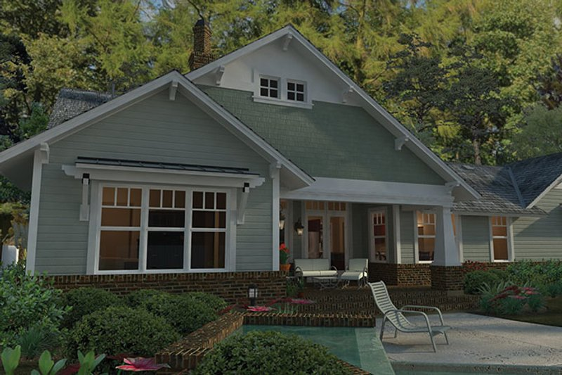 Craftsman Exterior - Rear Elevation Plan #120-249 - Houseplans.com